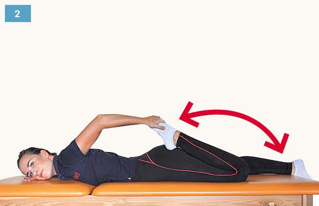 Ćwiczenie rozciągające mięśnie przedniej strony uda
