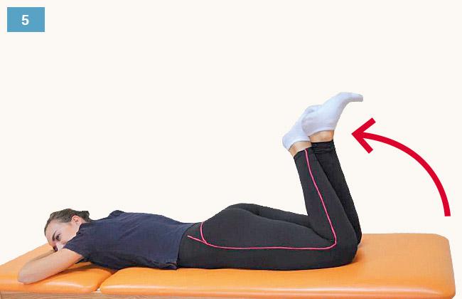 Ćwiczenie zwiększające zakres zgięcia stawu kolanowego