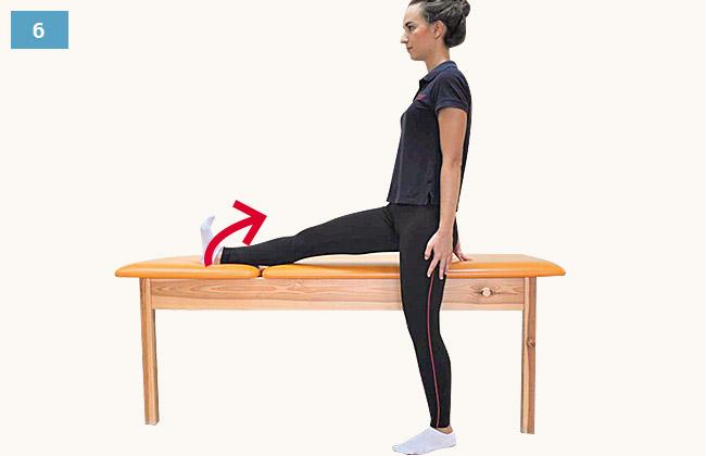 Ćwiczenie rozciagające grupy tylnej uda