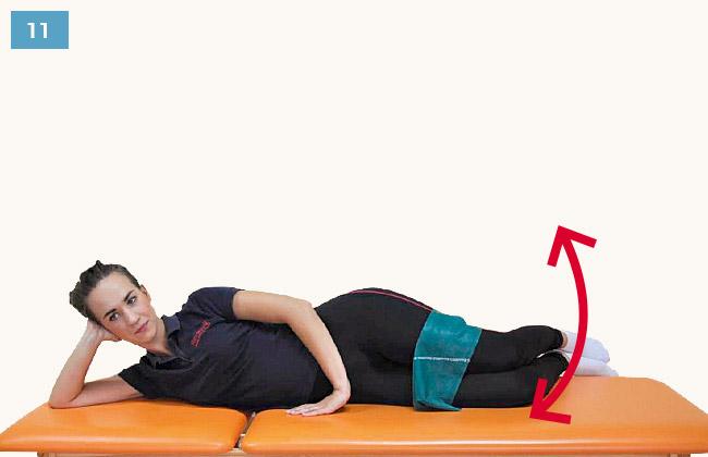 Ćwiczenie wzmacniające mięśnie odwodzące udo