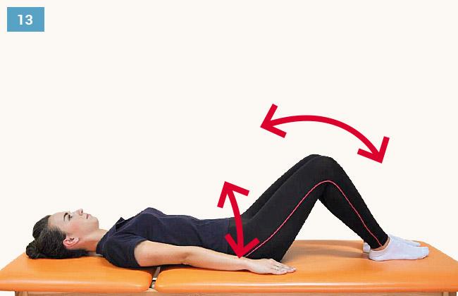 Ćwiczenie wzmacniające mięśnie brzucha uginanie kończyn dolnych
