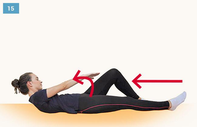 Ćwiczenie wzmacniające mięśnie brzucha i uda