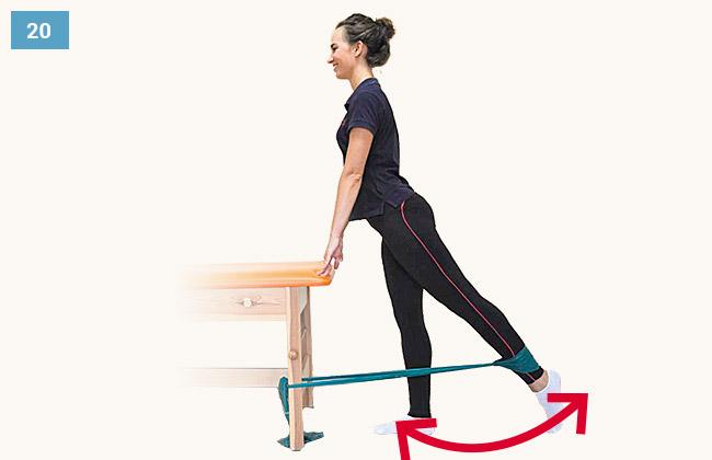 Ćwiczenie wzmacniające mięśnie pośladkowe i grupy tylnej uda w pozycji stojącej