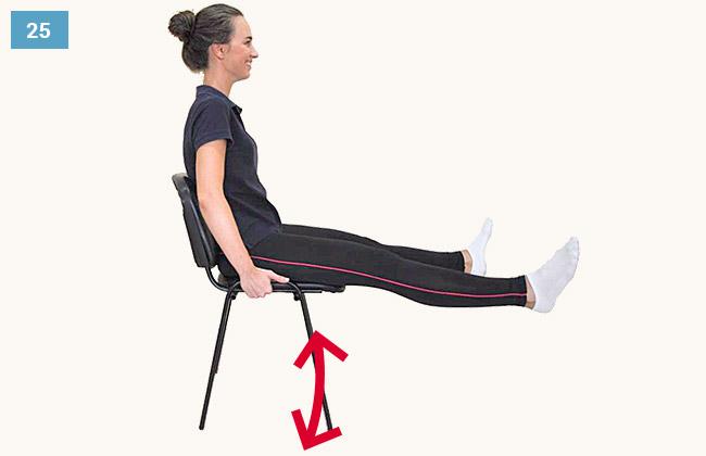 Ćwiczenie wzmacniające mięśnie brzucha i grupy przedniej uda