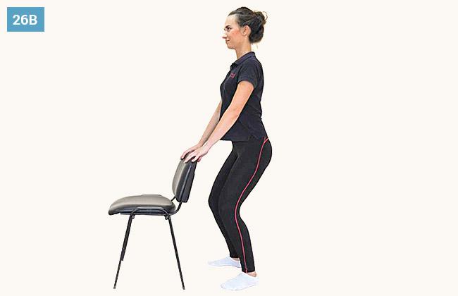 Ćwiczenie wzmacniające mięśnie grupy przedniej uda oraz mięśnie pośladkowe