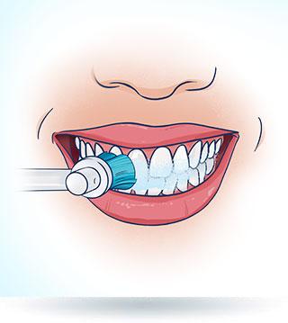 Mycie zębów szczoteczką elektryczną