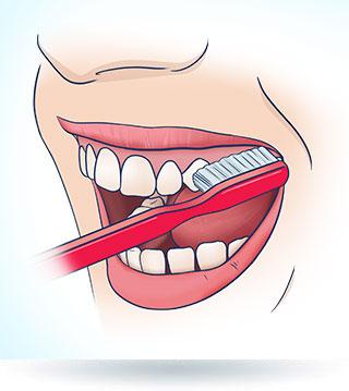 Szczotkowanie zębów od strony języka