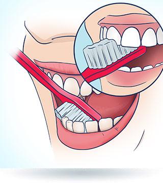Mycie zębów szczoteczką manualną